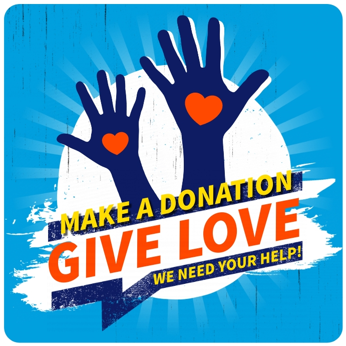 MAKE A DONATION BANNER template