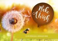 Make A Wish Dandelion Postcard template