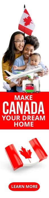 Make Canada your home immigration website ban Cartel de 2 × 8 pulg. template