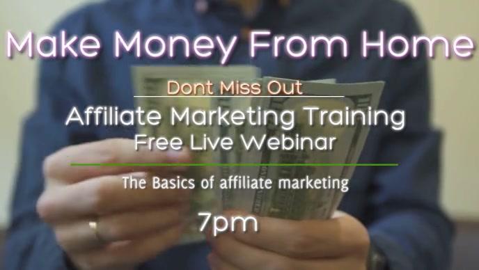 make money online Video Sampul Facebook (16:9) template