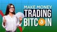 Make Money Online Trading Bitcoin Thumbnail template