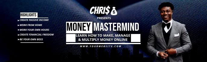 Make money online twitter banner Gambar Latar LinkedIn template