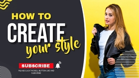 Make up and fashion youtube thumbnail templat template