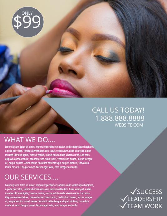 Make up artist Flyer (Letter pang-US) template