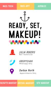 Make up Business card Визитная карточка template