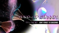 Make-Up Channel Banner Foto Sampul Saluran YouTube template