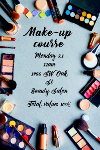 Make-up course flyer template