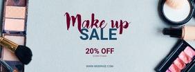Make up Sale Retail Facebook cover Template Ikhava Yesithombe se-Facebook