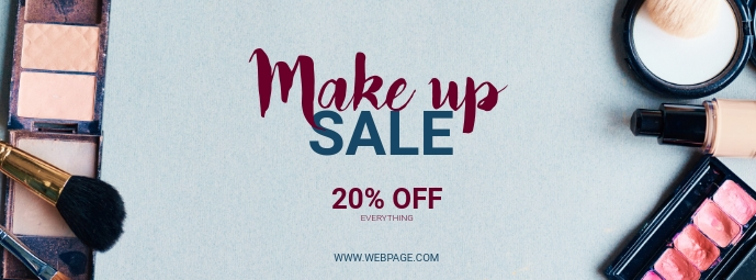 Make up Sale Retail Facebook cover Template