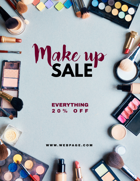 Make up Sale Retail Flyer Template