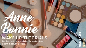 make up tutorial youtube channel banner template