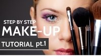 make up tutorial youtube thumbnail template