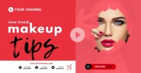 make up YouTube thumbnail โฆษณา Facebook template