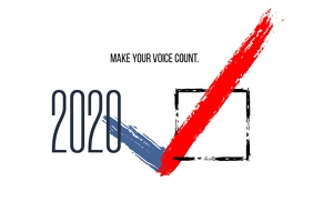 make your voice count Carte postale template