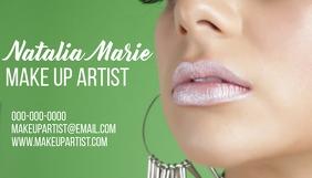 makeup artist business card Besigheidskaart template