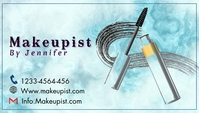 Makeup artist business card Visitkort template