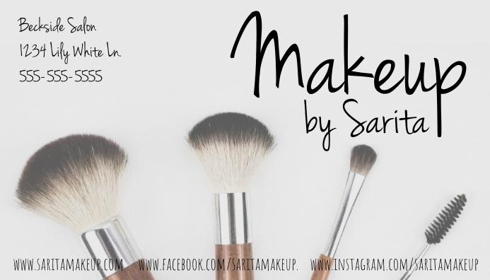 Makeup Artist Business Card นามบัตร template