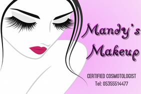 Makeup Artist Business card Poster template