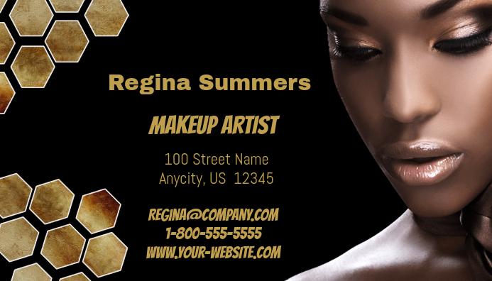 Makeup artist business card template postermywall makeup artist business card customize template wajeb Image collections