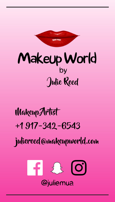 Makeup artist business card template postermywall makeup artist business card colourmoves