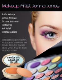 makeup artist flyer ad template