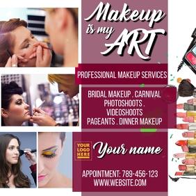 Makeup Artist Service Template Pos Instagram