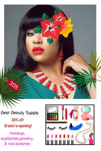 makeup/beauty store/sale/salon/belleza/spa Poster template