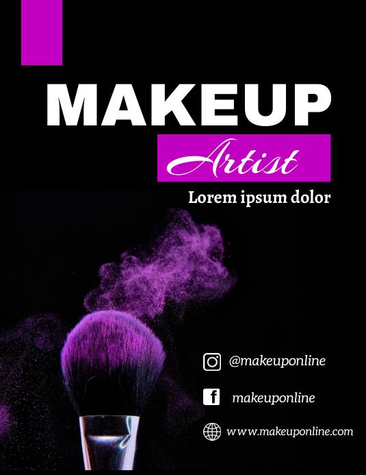 Makeup flyer ใบปลิว (US Letter) template