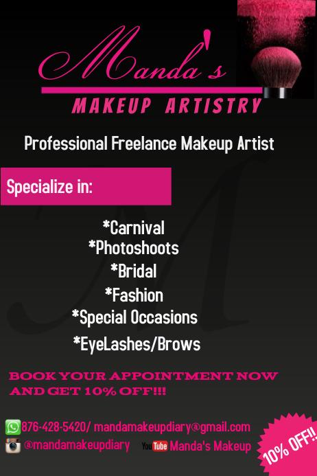Customizable Design Templates for Makeup | PosterMyWall