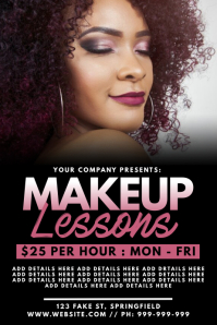 Makeup Lessons Poster template