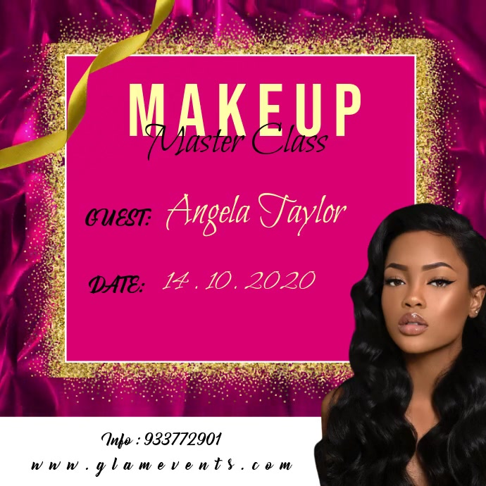 Makeup Master class โพสต์บน Instagram template