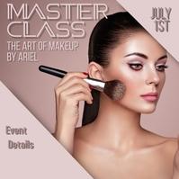 Makeup master class Instagram-opslag template