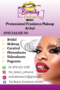 Makeup Flyer Póster template