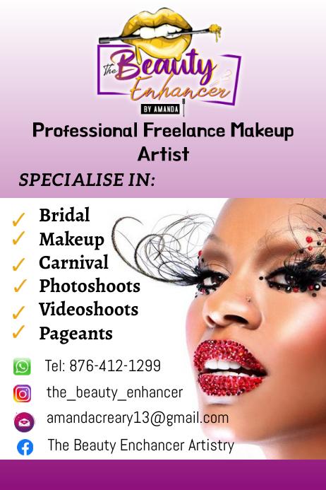 Makeup Flyer โปสเตอร์ template