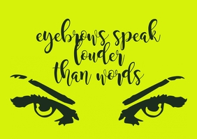 Makeup Quotes Briefkaart template
