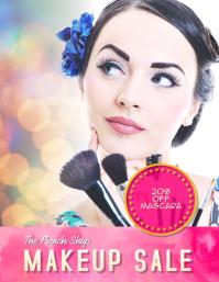 makeup sale flyer template