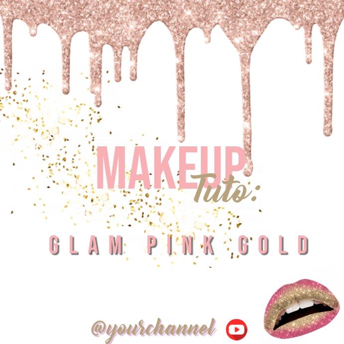 Makeup Tutoriel โพสต์บน Instagram template
