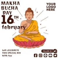 Makha Bucha Day Message Instagram template
