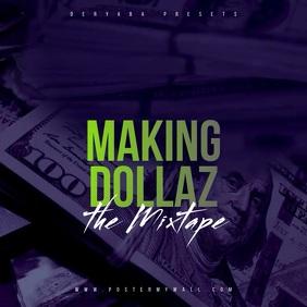 Making Money Dollars Video Mixtape CD Cover