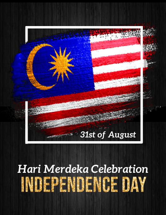 malaysia, malaysian independence day Løbeseddel (US Letter) template
