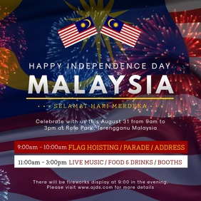 Malaysia Day Celebration Event Invitation