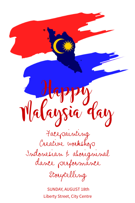 copy of malaysia day celebration poster template