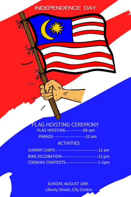 Malaysia Day Poster Template
