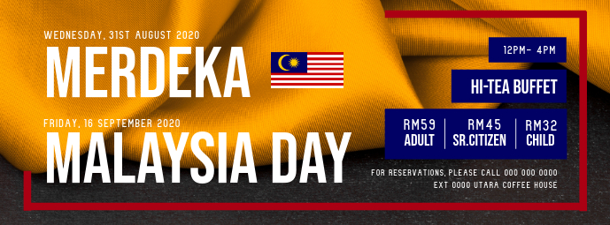 Malaysia Day Restaurant Facebook Cover Photo