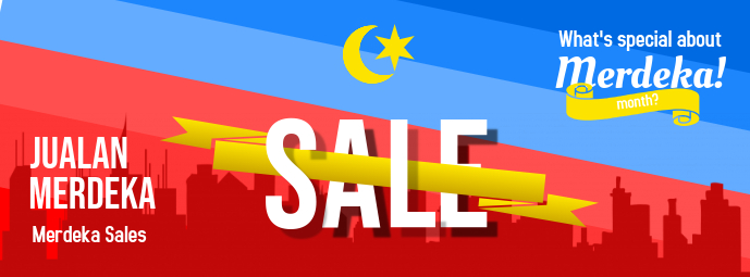Malaysia Day Sale Facebook Cover Photo template