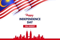 Malaysia Independence Day Banner template