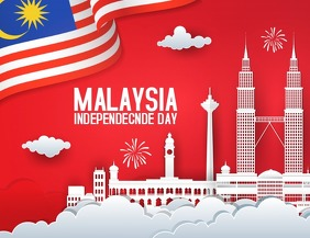 Malaysia independence day Flyer (US Letter) template