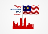 Malaysia Independence Day Postcard template