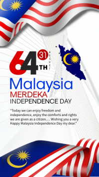 Malaysia Independence day Instagram Story template