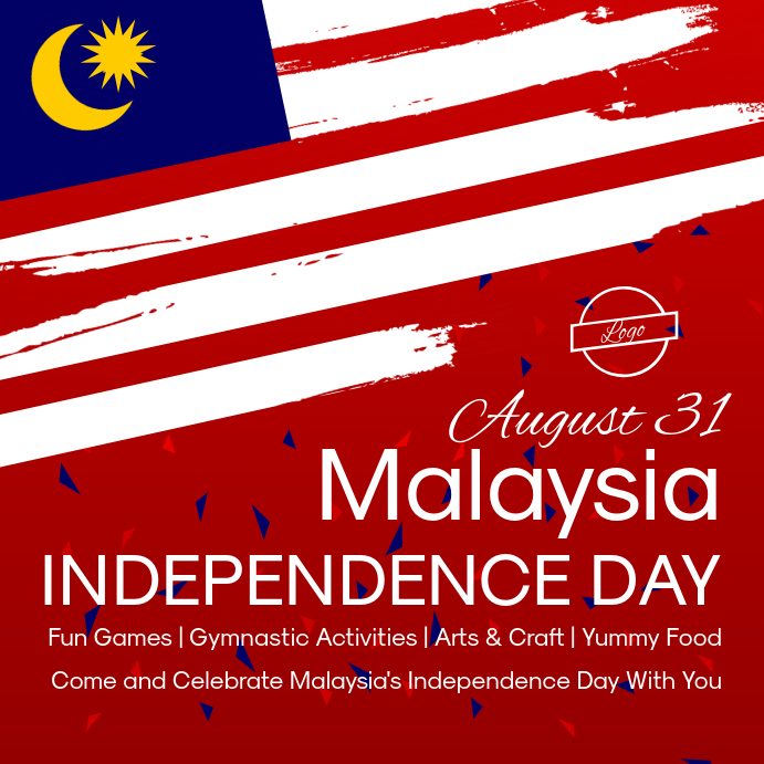 Malaysia Independence Day Instagram Image template